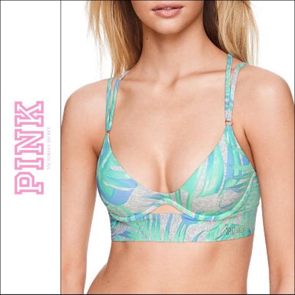 428747c93b PINK Victoria s Secret Push-up Bonded Bra Gray